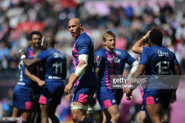 Sergio Parisse of Stade Francais during the European Challenge Cup semi final between Stade Francais and Bath on April 23 2017 in Paris France