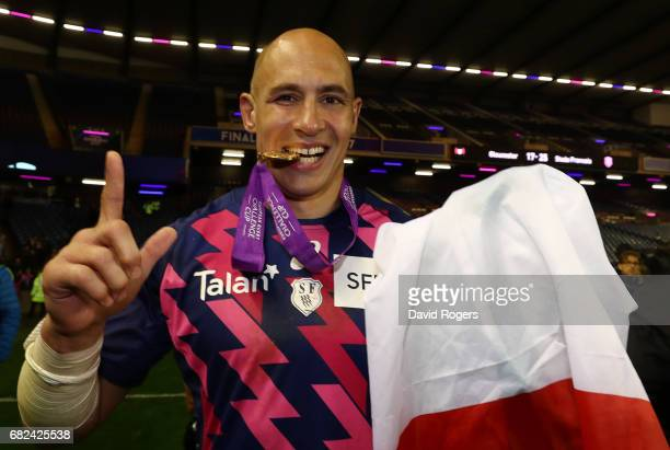 Sergio Parisse of Stade Francais following his team's 2517 victory during the European Rugby Challenge Cup Final between Gloucester and Stade...