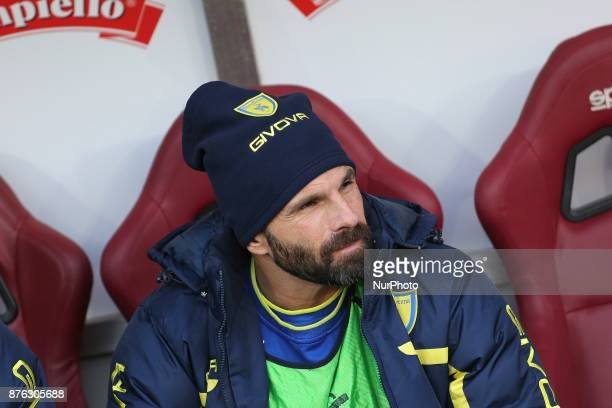 Sergio Pellissier before the Serie A football match between Torino FC and AC Chievo Verona at Olympic Grande Torino Stadium on 19 November 2017 in...