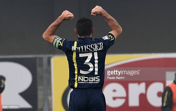 Sergio Pellissier celebrate after penalty 20 during the Serie A match between AC ChievoVerona and UC Sampdoria at Stadio Marc'Antonio Bentegodi on...