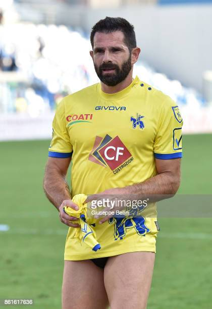 Sergio Pellissier of AC Chievo Verona after the Serie A match between US Sassuolo and AC Chievo Verona at Mapei Stadium Citta' del Tricolore on...