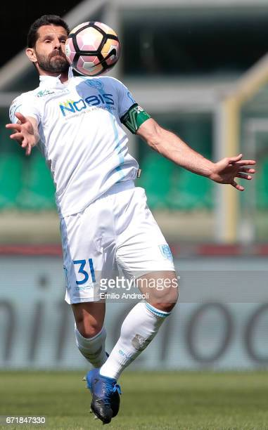 Sergio Pellissier of AC ChievoVerona controls the ball during the Serie A match between AC ChievoVerona and FC Torino at Stadio Marc'Antonio...