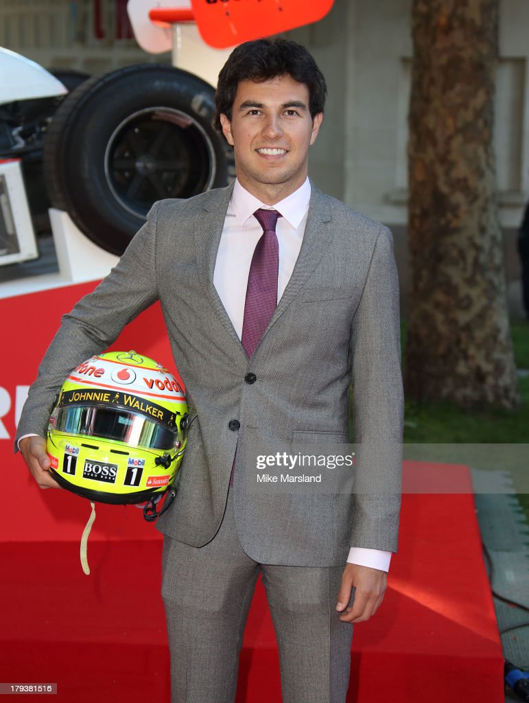 Sergio Perez attends the World Premiere of 'Rush' at Odeon Leicester Square on September 2, 2013 in London, England.