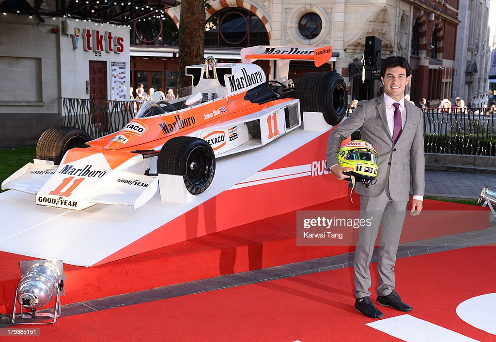 Sergio Perez attends the World Premiere of 'Rush' at the Odeon Leicester Square on September 2, 2013 in London, England.