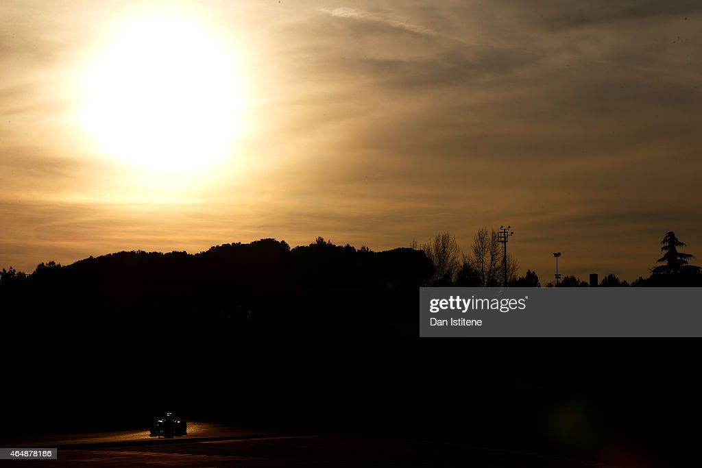 Sergio Perez of Mexico and Force India drives during day four of the final Formula One Winter Testing at Circuit de Catalunya on March 1, 2015 in Montmelo, Spain.