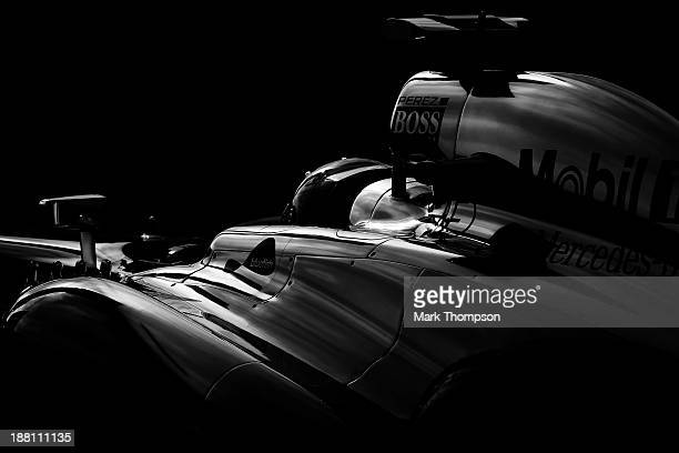 Sergio Perez of Mexico and McLaren drives during practice for the United States Formula One Grand Prix at Circuit of The Americas on November 15 2013...