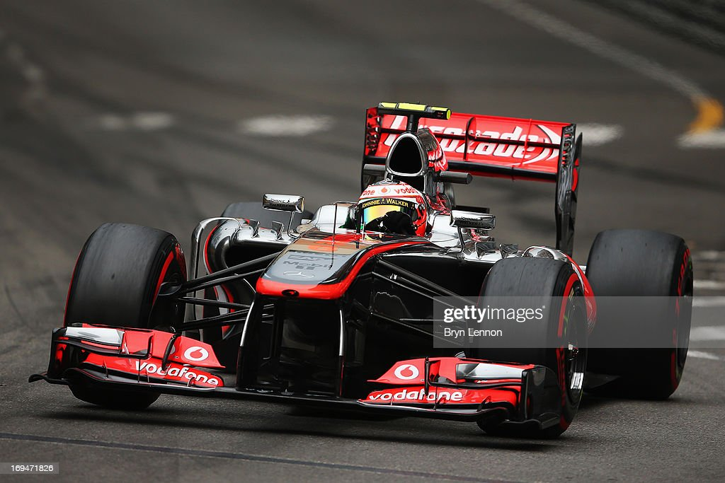 Sergio Perez of Mexico and McLaren drives during qualifying for the Monaco Formula One Grand Prix at the Circuit de Monaco on May 25, 2013 in Monte-Carlo, Monaco.