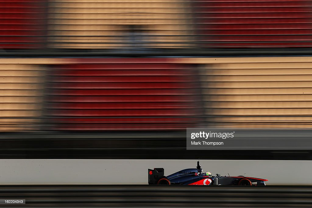 Sergio Perez of Mexico and McLaren during day two of Formula One winter test at the Circuit de Catalunya on February 20, 2013 in Montmelo, Spain.