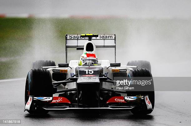 Sergio Perez of Mexico and Sauber F1 drives during the Malaysian Formula One Grand Prix at the Sepang Circuit on March 25 2012 in Kuala Lumpur...