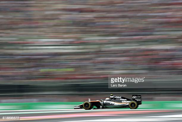 Sergio Perez of Mexico driving the Sahara Force India F1 Team VJM09 Mercedes PU106C Hybrid turbo on track during practice for the Formula One Grand...