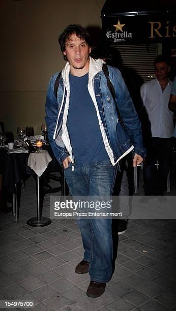 Sergio Peris Mencheta is seen leaving a restaurant on October 9 2012 in Madrid Spain
