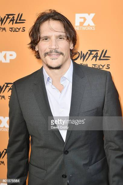 Sergio PerisMencheta attends the Premiere Of FX's 'Snowfall' Arrivals at The Theatre at Ace Hotel on June 26 2017 in Los Angeles California
