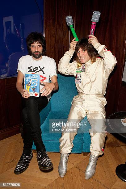 Sergio Pizzorno and Noel Fielding attend the launch of new book 'The Mice Who Sing For Sex And Other Weird Tales From The World Of Science' by Lliana...