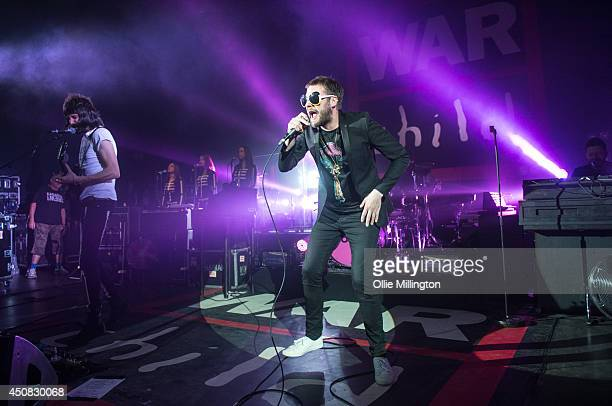 Sergio Pizzorno and Tom Meighan of Kasabian perform on stage in aid of War Child during the Week their album 4813 charted in the UK at no1 at...