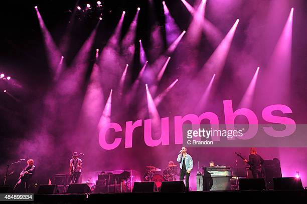 Sergio Pizzorno Chris Edwards Ian Matthews and Tom Meighan of Kasabian Headline on the Virgin Media stage during Day 1 of the V Festival at Hylands...
