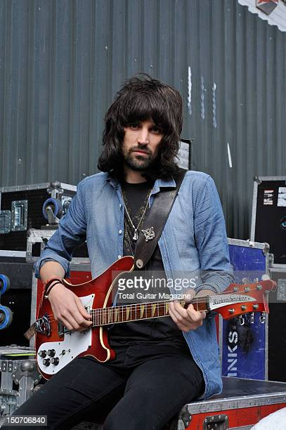 Sergio Pizzorno guitarist of English rock band Kasabian Photographed during a portrait shoot for Total Guitar Magazine September 21 2011 Sergio...