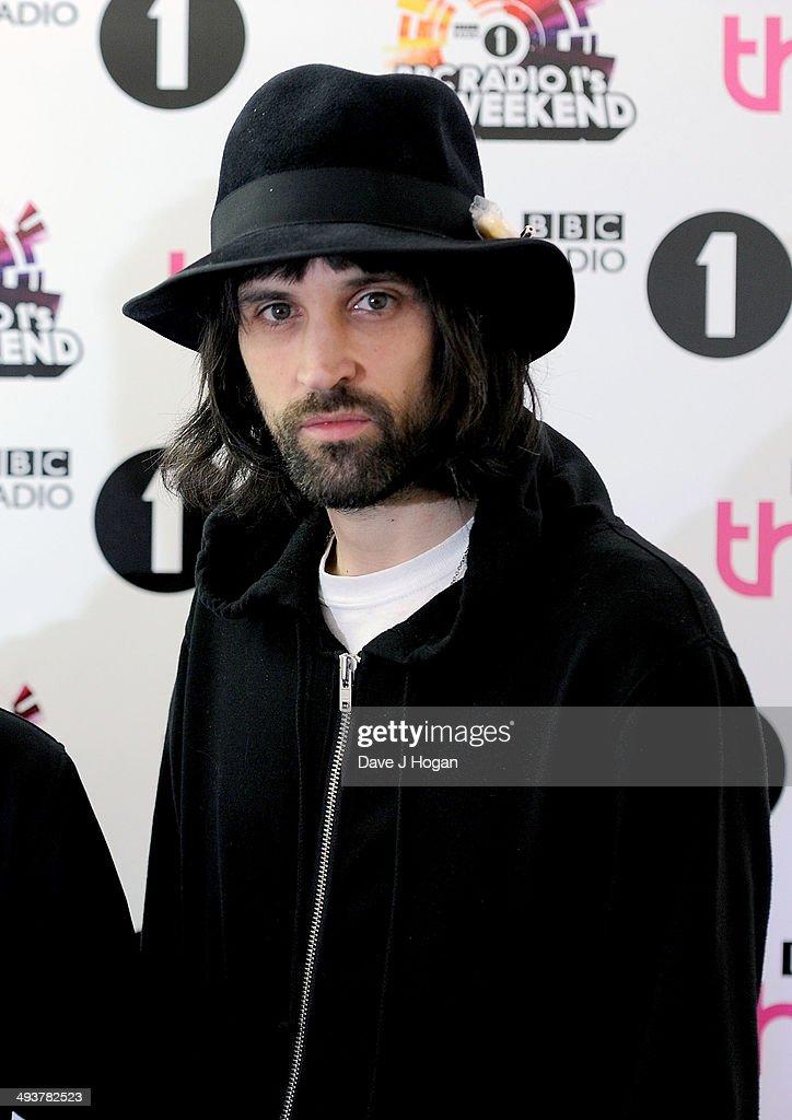Sergio Pizzorno of Kasabian attend Radio 1's Big Weekend at Glasgow Green on May 25, 2014 in Glasgow, Scotland.