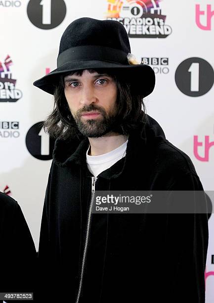 Sergio Pizzorno of Kasabian attend Radio 1's Big Weekend at Glasgow Green on May 25 2014 in Glasgow Scotland