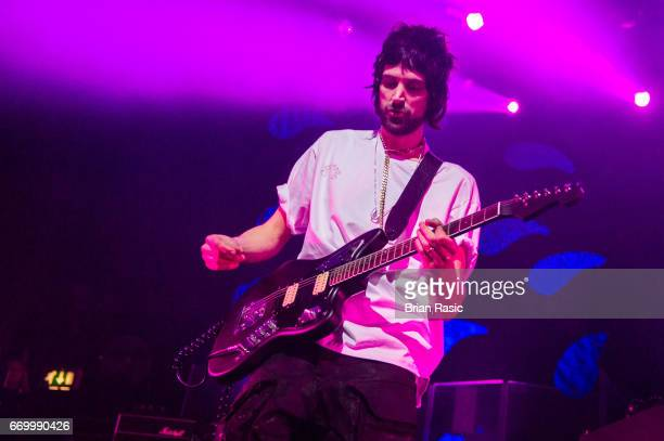 Sergio Pizzorno of Kasabian performs at The Forum on April 18 2017 in London United Kingdom