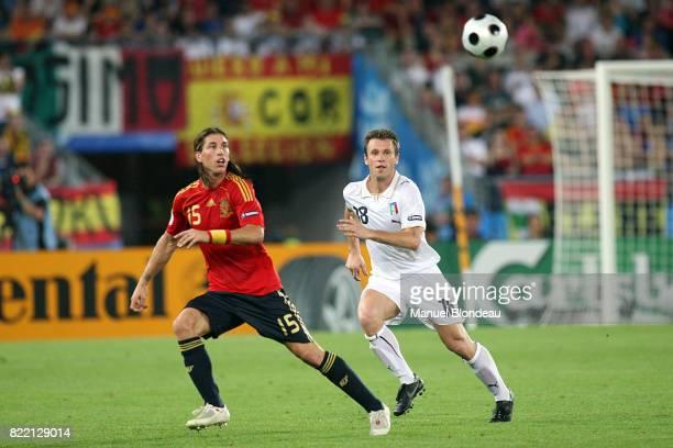 Sergio RAMOS / Antonio CASSANO Italie / Espagne 1/4 Finale Euro 2008 Vienne