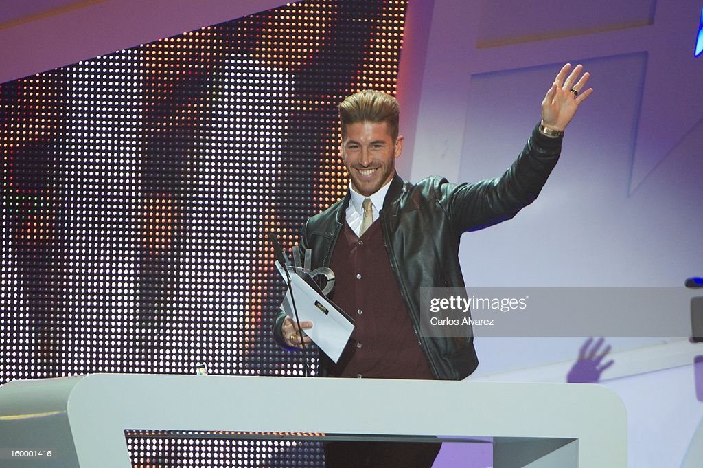 Sergio Ramos attends '40 Principales Awards' 2012 at Palacio de los Deportes on January 24, 2013 in Madrid, Spain.