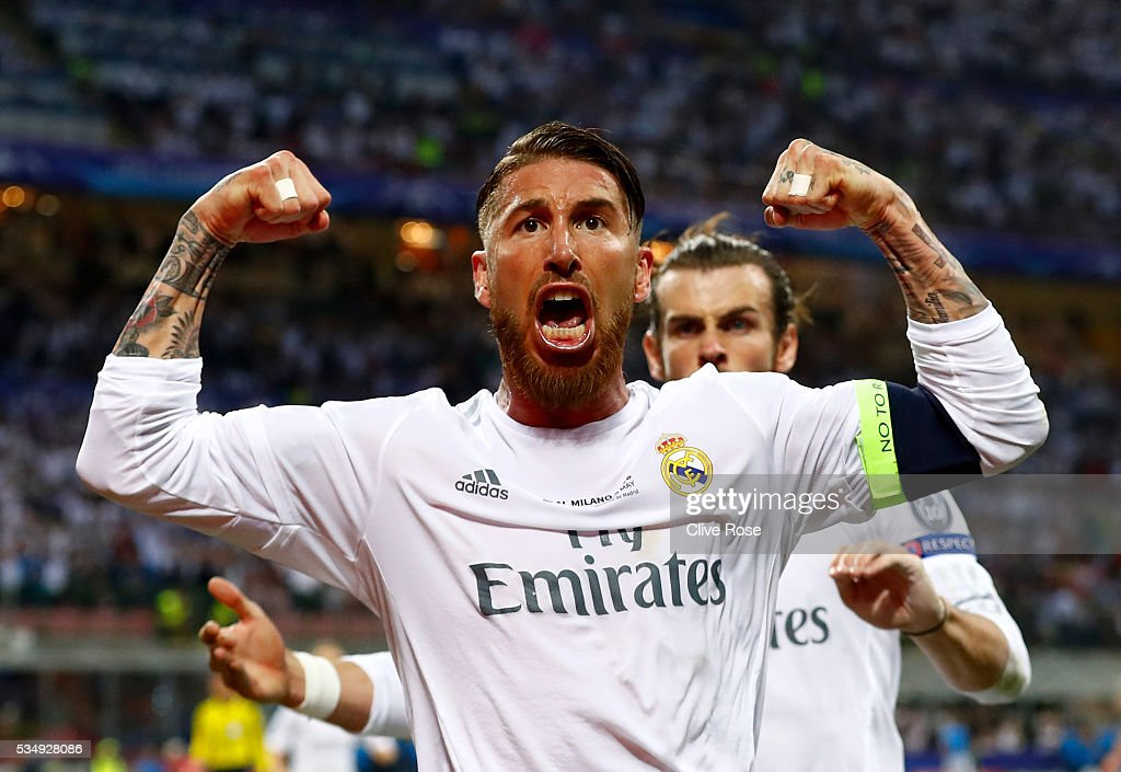 [Champions League] 2015-2016 Sergio-ramos-of-real-madrid-celebrates-after-scoiring-the-opening-picture-id534928086