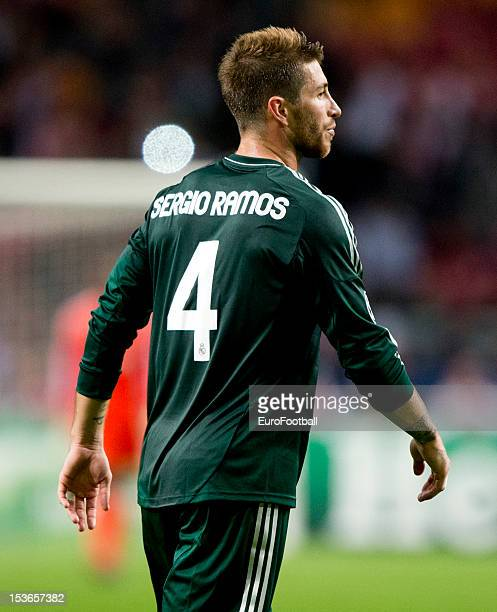 Sergio Ramos of Real Madrid CF in action during the UEFA Champions League group stage match between AFC Ajax and Real Madrid CF at the Amsterdam...