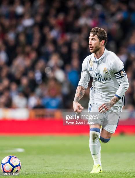 Sergio Ramos of Real Madrid in action during their La Liga match between Real Madrid and Real Betis at the Santiago Bernabeu Stadium on 12 March 2017...