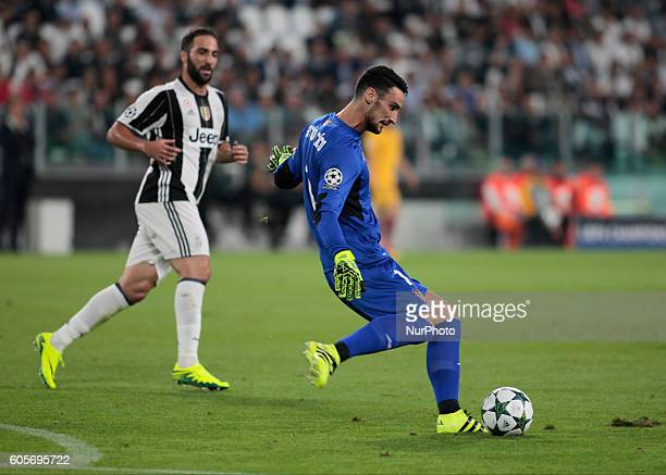 Sergio Rico during Champions League match between Juventus v Sevilla in Turin on September 14 2016