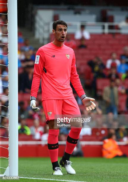 Sergio Rico of Sevilla FC during Emirates Cup match between RB Leipzig against Sevilla at Emirates Stadium on 29 July 2017