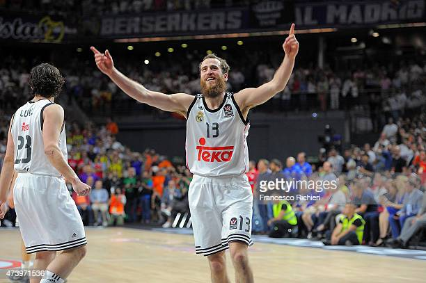 Sergio Rodriguez #13 of Real Madrid in action during the Turkish Airlines Euroleague Final Four Madrid 2015 Final Game between Real Madrid vs...