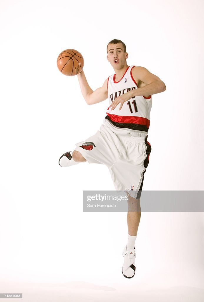 <a gi-track='captionPersonalityLinkClicked' href=/galleries/search?phrase=Sergio+Rodriguez+-+Basketball+Player&family=editorial&specificpeople=765161 ng-click='$event.stopPropagation()'>Sergio Rodriguez</a>, the Portland Trail Blazers' new draft pick, poses during a portrait session July 6, 2006 in Portland, Oregon. Rodriguez, who played the last two seasons in Spain, was the 27th pick in the 2006 NBA draft.