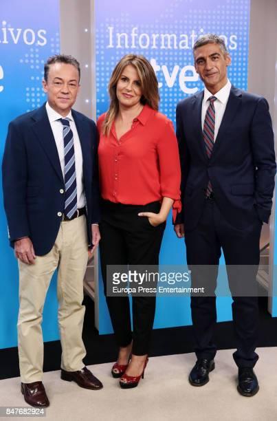 Sergio Sauca and Pilar Garcia Muniz attend the presentation of the new season of TVE News on September 4 2017 in Madrid Spain