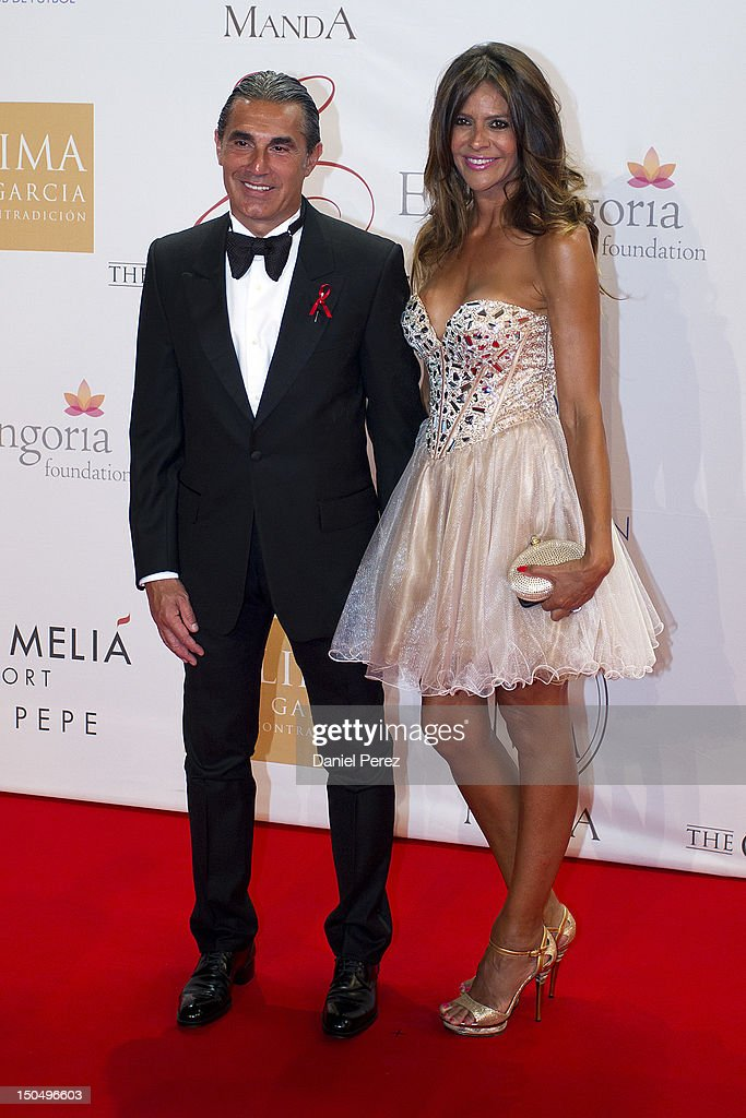 Sergio Scariolo and Blanca Ares attends the Global Gift Gala 2012 at Gran Melia Resort Don Pepe on August 19, 2012 in Marbella, Spain. The Global Gift Gala is hosted by Cesare Scariolo Foundation and Eva Longoria Foundation to raise money for children.