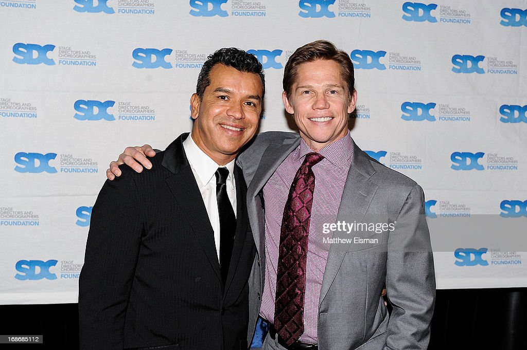 Sergio Trujillo (L) and <a gi-track='captionPersonalityLinkClicked' href=/galleries/search?phrase=Jack+Noseworthy&family=editorial&specificpeople=862741 ng-click='$event.stopPropagation()'>Jack Noseworthy</a> attend the 2013 Mr. Abbott Award event at B.B. King Blues Club & Grill on May 13, 2013 in New York City.