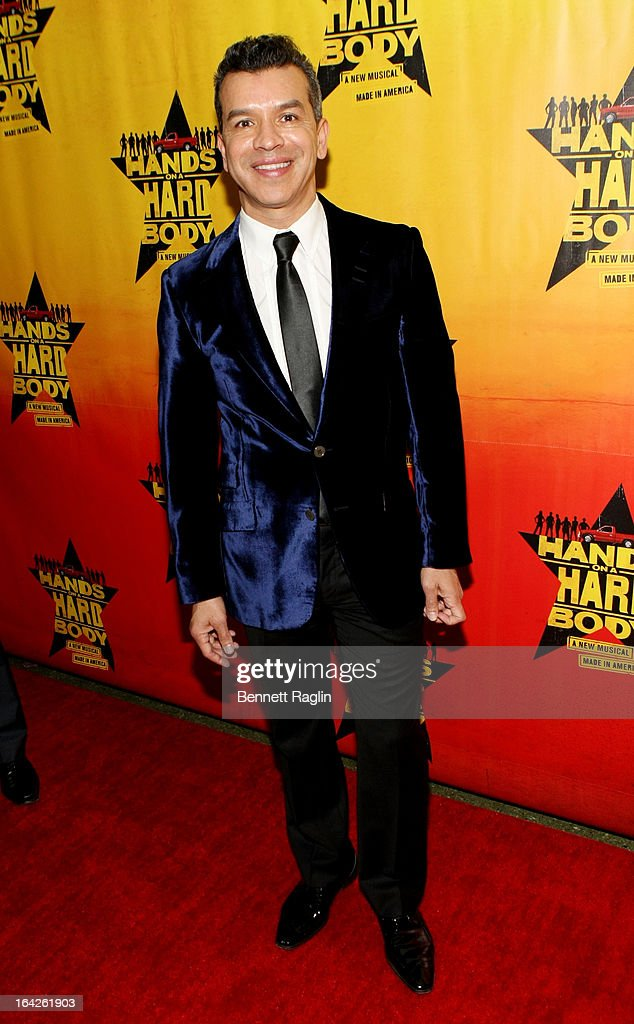Sergio Trujillo attends 'Hands On A Hard Body' Broadway opening night after party at Roseland Ballroom on March 21, 2013 in New York City.
