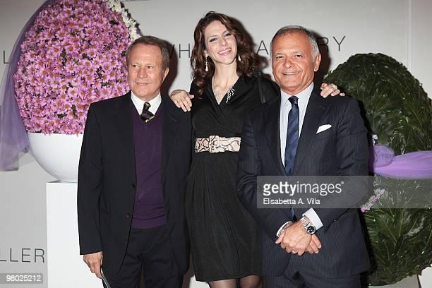 Sergio Valente Janet De Nardis and Claudio Casetti attend 'L'Arte Nell'Uovo Di Pasqua' Charity Event at the White Gallery on March 24 2010 in Rome...