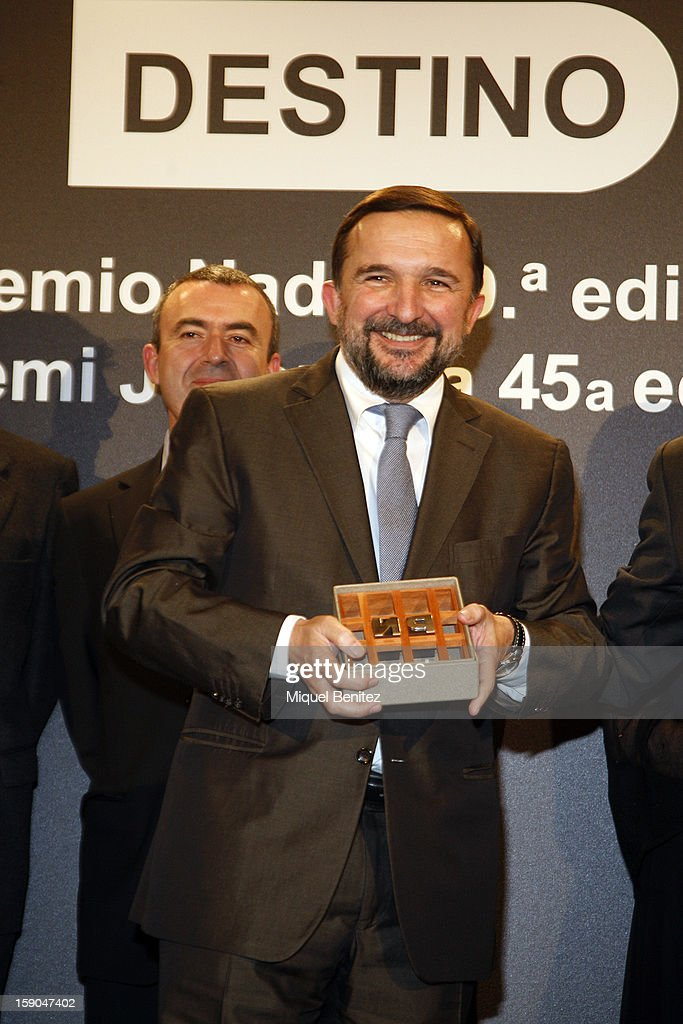 Sergio Vilasanjuan wins the 69th Nadal literature award' with his 'Estaba en el aire', 'It was on the air' on January 6, 2013 in Barcelona, Spain.