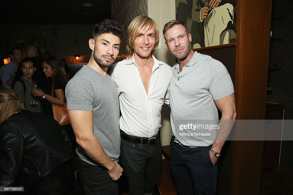 Sergio Zapata Marc Bouwer and Paul Margolin attend the The Daily's Summer premiere party at the Smyth Hotel on June 2 2016 in New York City
