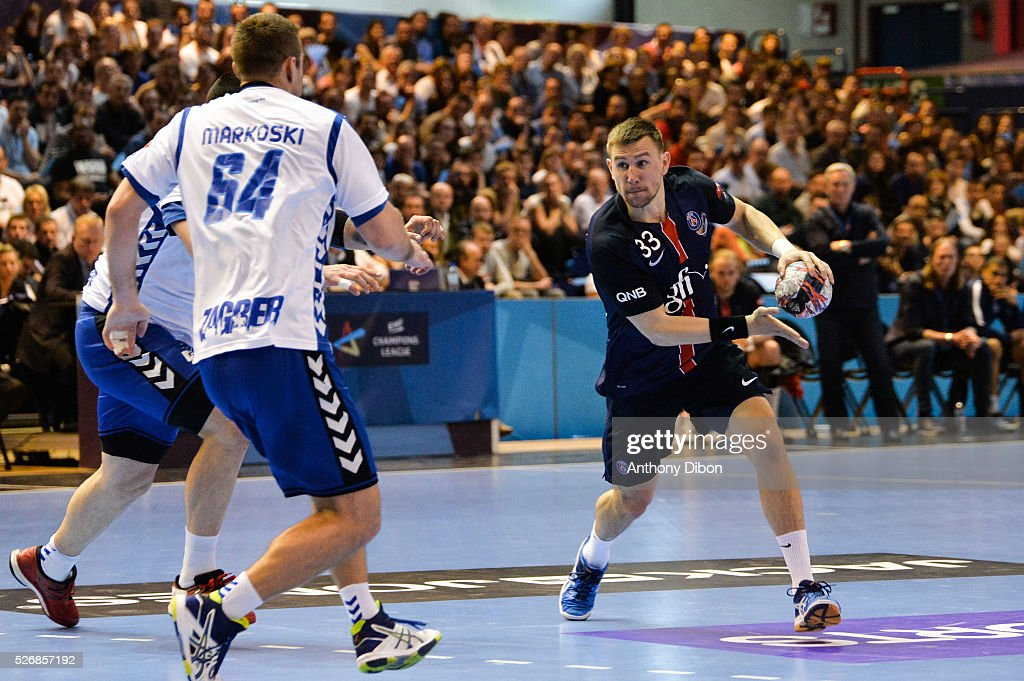 Sergiy Onufreyienko of PSG during the EHB Handball Champions League match, second Leg, Round of 8, between Paris Saint Germain and HC Zagreb on May 1, 2016 in Paris, France.