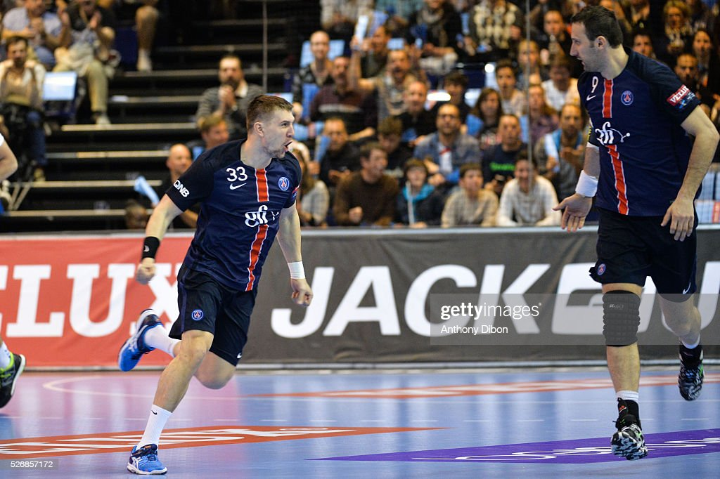 Sergiy Onufryienko of PSG during the EHB Handball Champions League match, second Leg, Round of 8, between Paris Saint Germain and HC Zagreb on May 1, 2016 in Paris, France.