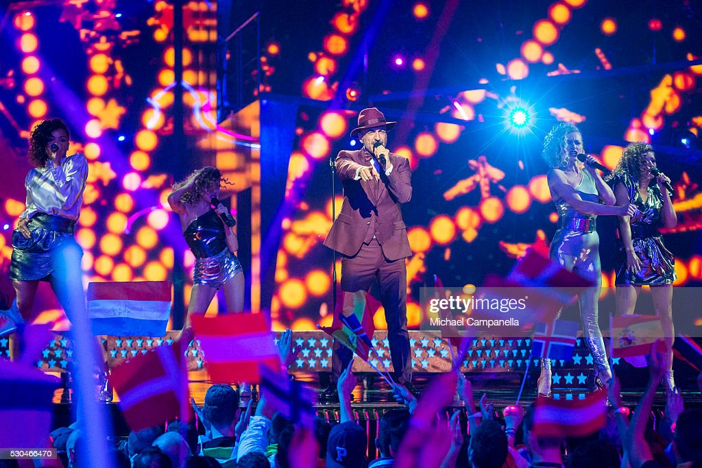 Serhat of San Marino performs the song 'I Didn't Know' during the semifinals of the 2016 Eurovision Song Contest at Ericsson Globe Arena on May 10...