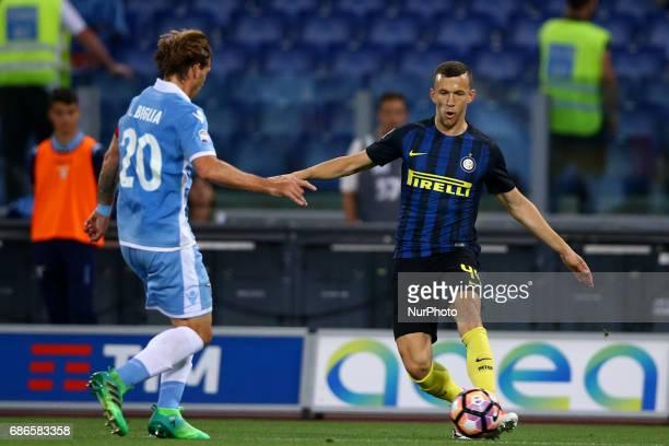 Serie A Lazio v Inter Lucas Biglia of Lazio and Ivan Perisic of Internazionale at Olimpico Stadium in Rome Italy on May 21 2017