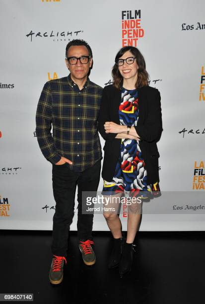Series creators/actors Fred Armisen and Carrie Brownstein attend the Portlandia Retrospective during the 2017 Los Angeles Film Festival at Kirk...