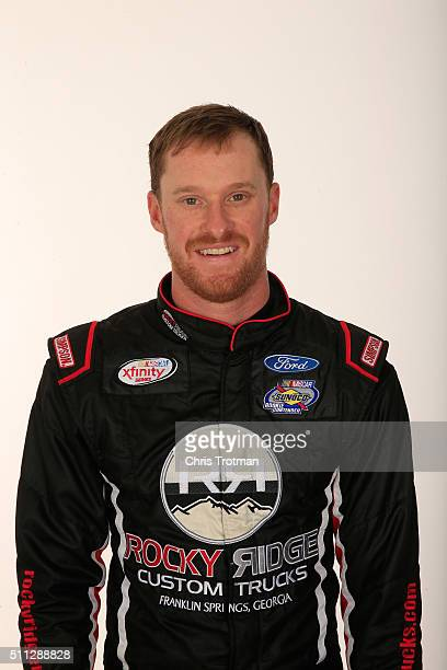 Series driver Jeb Burton poses for a photo at Daytona International Speedway on February 19 2016 in Daytona Beach Florida