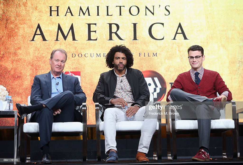 Series executive producer David Horn actor Daveed Diggs and filmmaker Alex Horowitz speak onstage during the 'PBS Arts Fall Festival/Great...