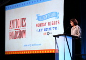 Series Executive Producer Marsha Bemko speaks onstage during the ' Antiques Roadshow/'Treasures from History and Hollywood' ' panel discussion at the...