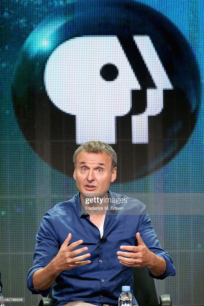 Series host/executive producer Phil Rosenthal speaks onstage during the 'I'll Have What Phil's Having' panel discussion at the PBS portion of the...