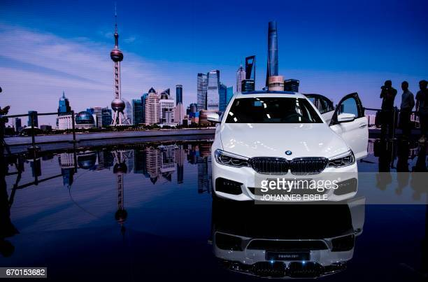 Series Li car is presented during the first day of the 17th Shanghai International Automobile Industry Exhibition in Shanghai on April 19 2017 Global...