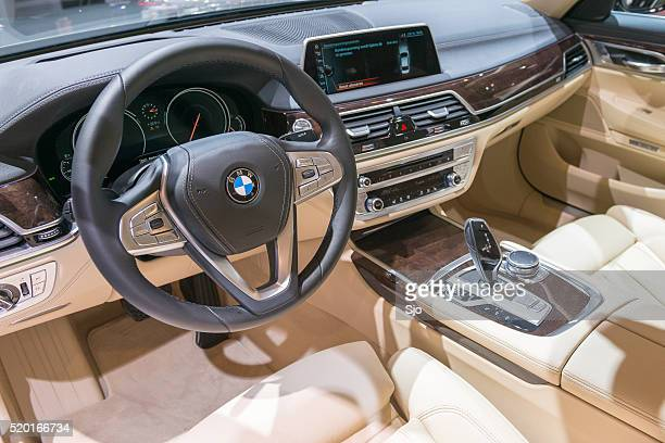BMW 7 series luxury limousine car interior